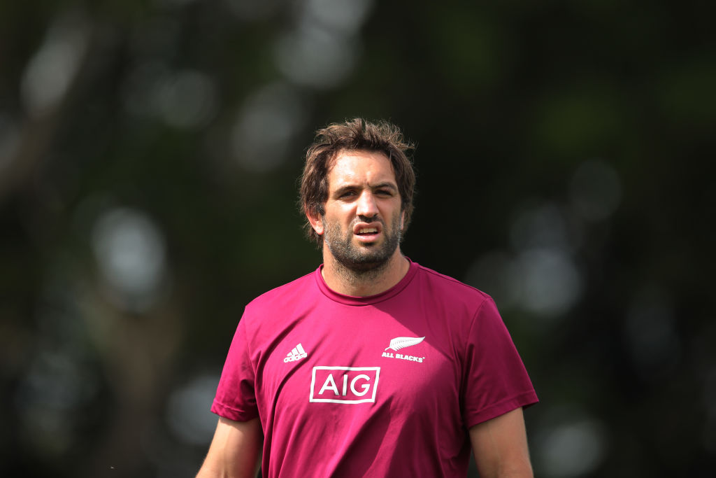 Sam Whitelock will make his 100th test start for New Zealand in the match at the weekend. Photo:...