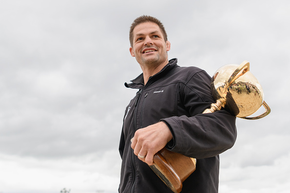 Richie McCaw delivers the New Zealand Trotting Cup. Photo: Getty