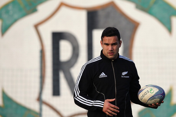 Tamati Ellison with the All Blacks in Rome in 2012. Photo: Getty Images