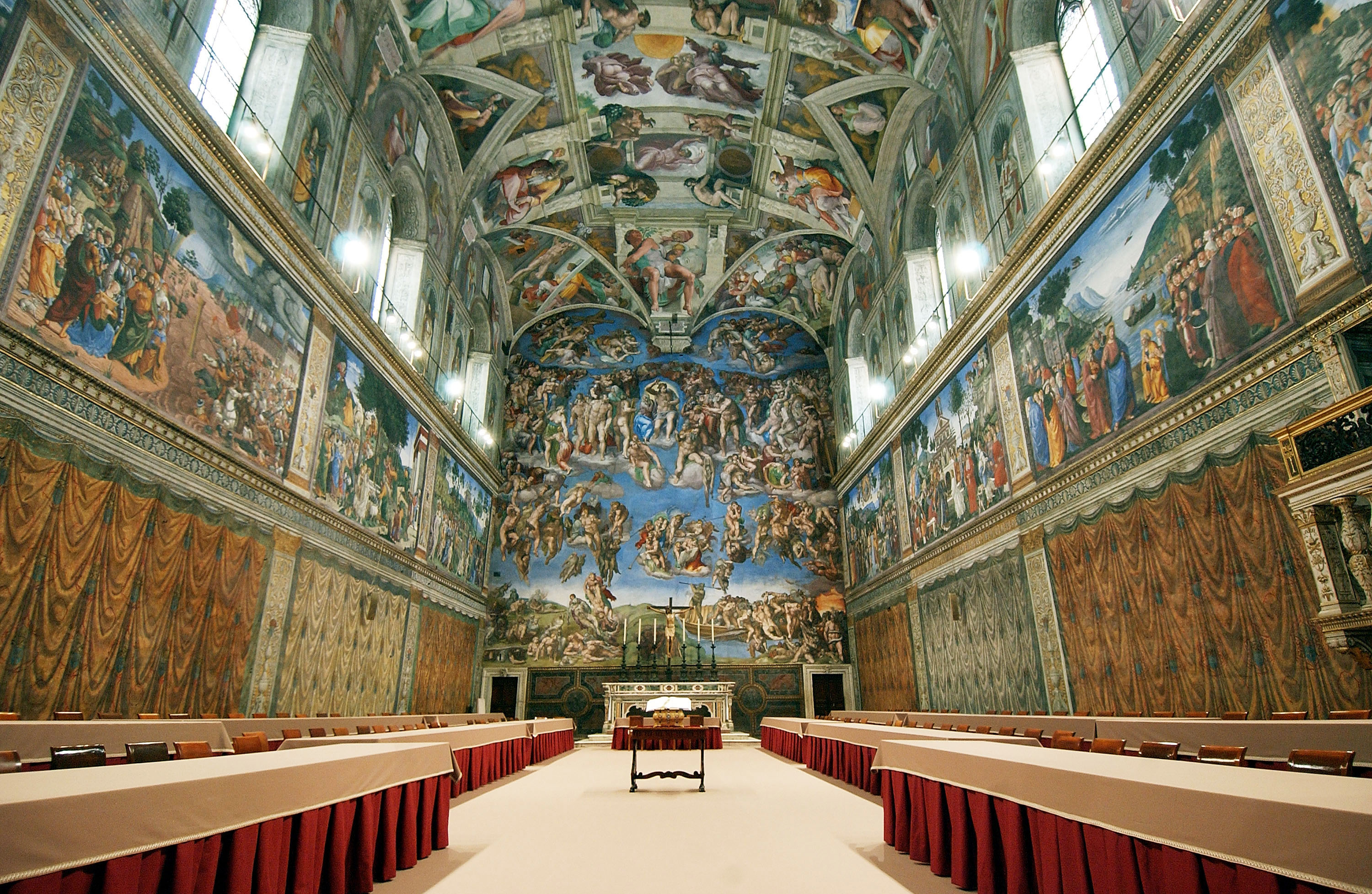 The day after taking in an Andy Warhol exhibition, it was on to Michaelangelo's Sistine Chapel...