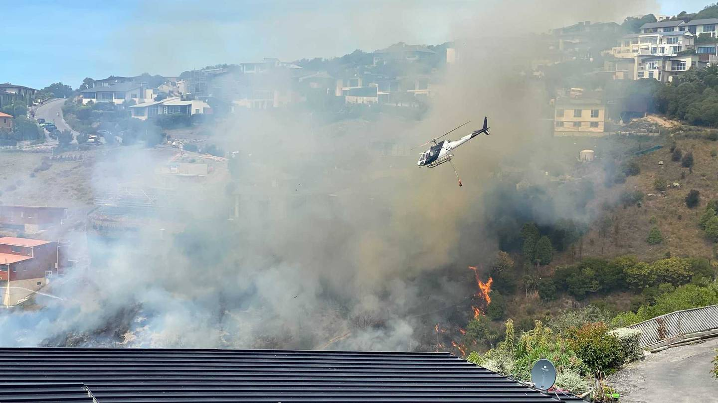 The fire in Redcliffs. Photo: George Heard