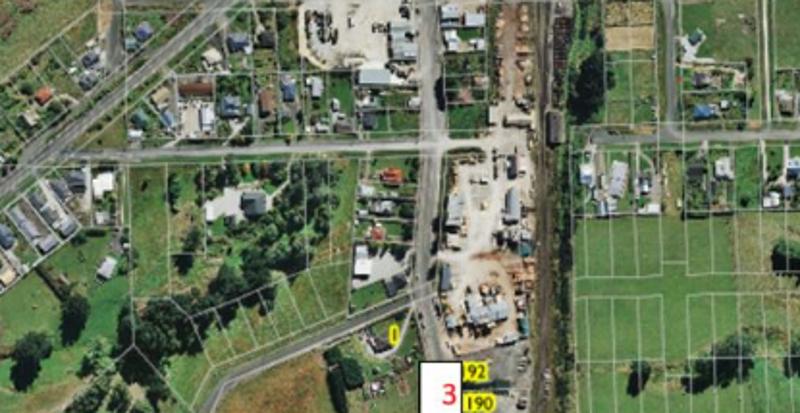 The preferred site (3) opposite 1190 Goodwood Road. Photo: Waitaki District Council