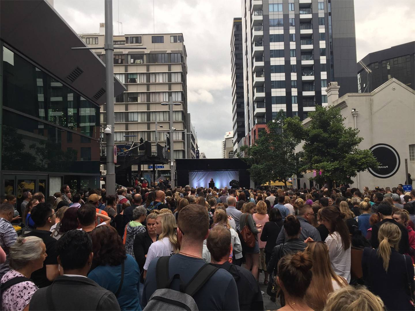 A large crowd turned out for the Auckland vigil. Photo: NZ Herald