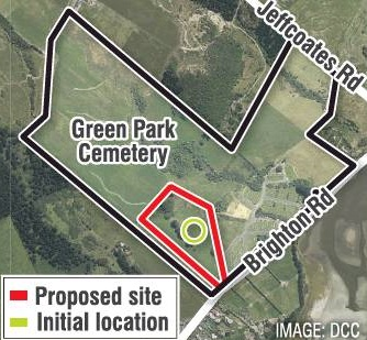 Proposed expansion of natural burial site at Green Park Cemetery in Westwood.