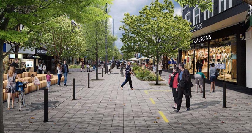 One image of the proposed changes to George St. Supplied