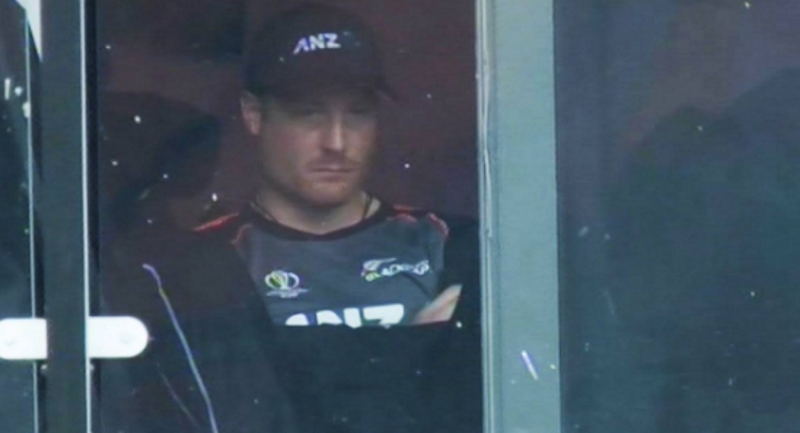 A dejected Martin Guptill after being dismissed for one run on Tuesday. Photo: Sky Sport