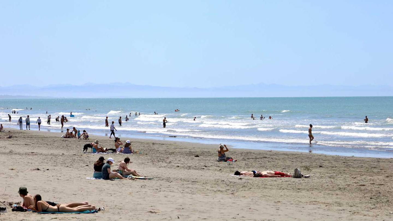 Sumner Beach in Christchurch on Tuesday. Photo: George Heard