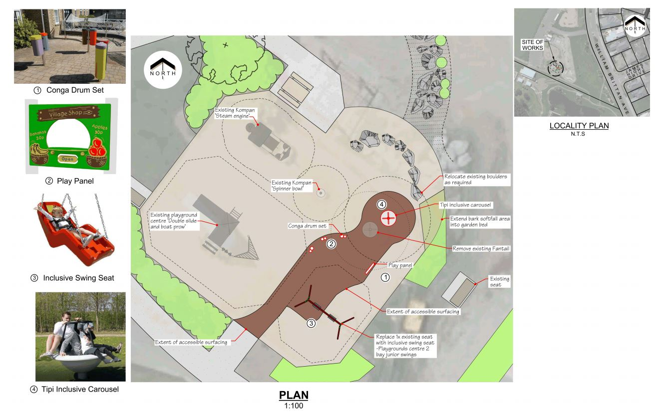 Designs for the new play facility. Image: Christchurch City Council / Supplied