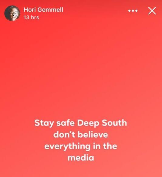 A post made on Hori Gemmell's social media last night. Image: Facebook