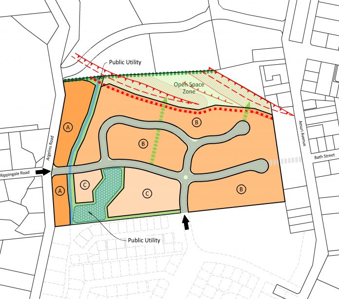 The proposed Morford Estate subdivision in Hanmer Springs. The orange areas represent the...