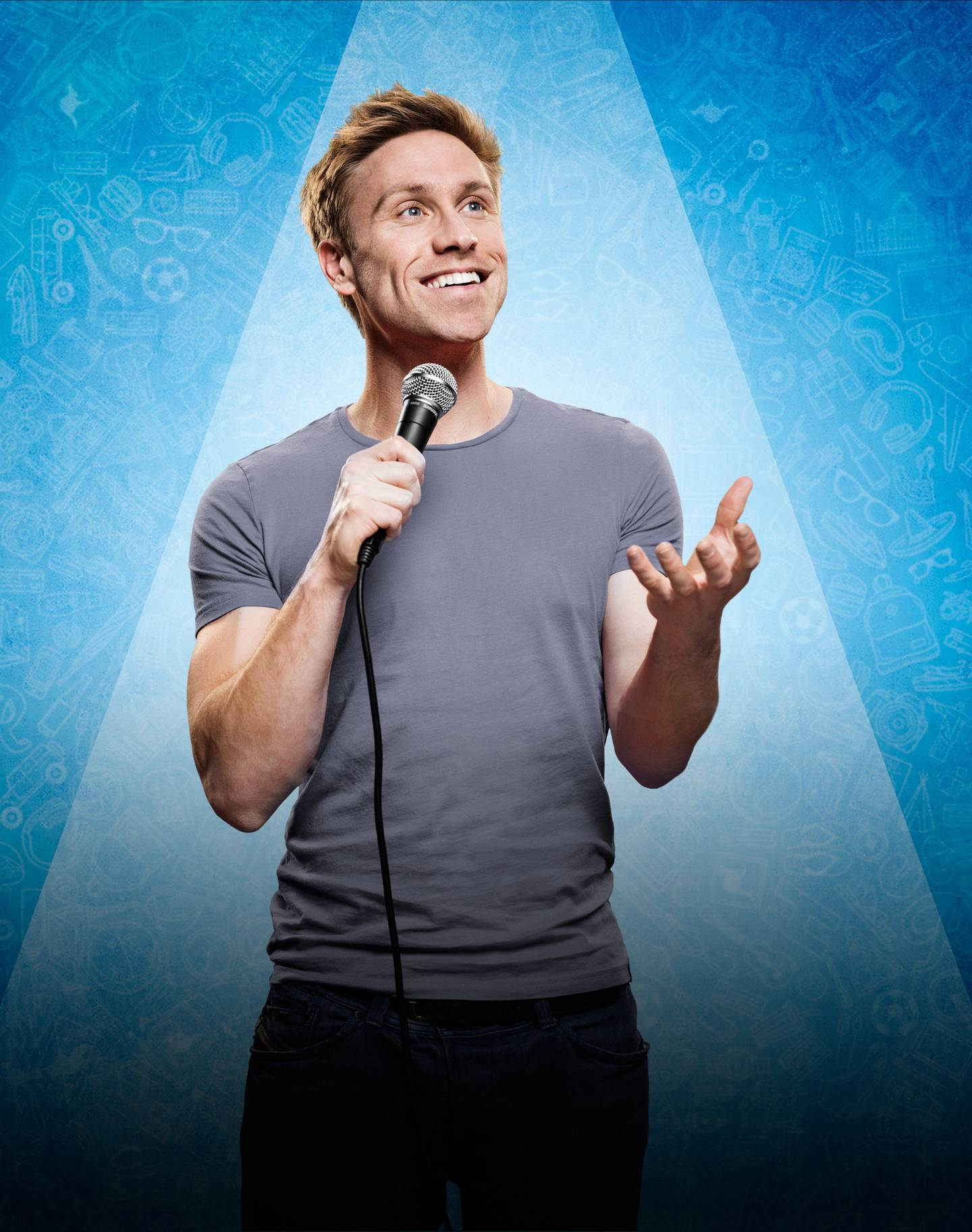 English comedian Howard, 40, is in New Zealand performing his comedy around the country as part...