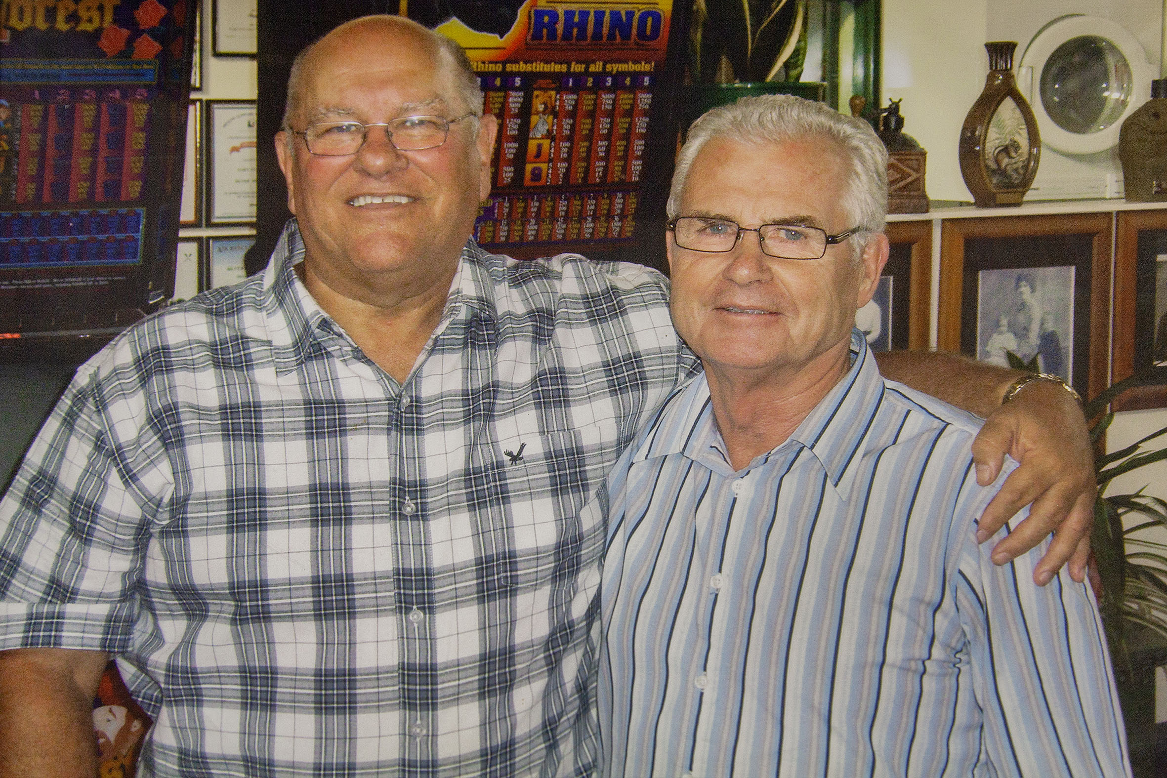 Frank Endacott and Gary Clarke. Photo: Supplied