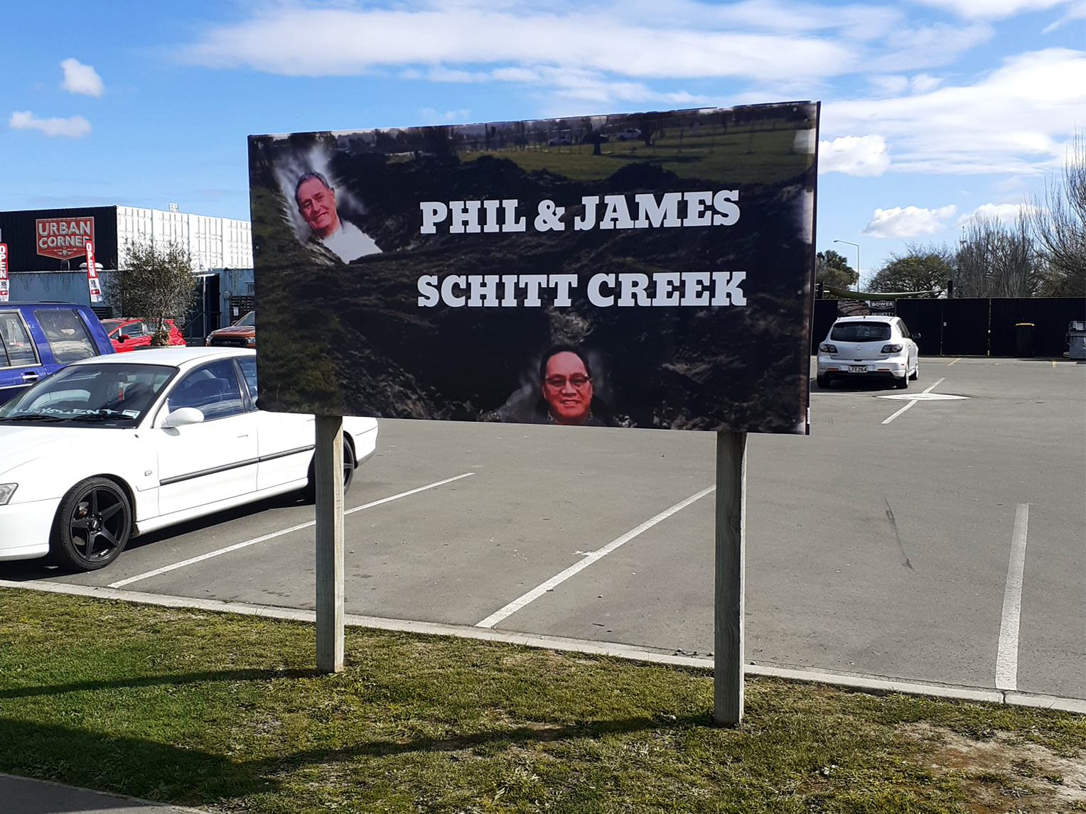 Another of the signs supporting city councillors Phil Mauger and James Daniels. Photo: Supplied