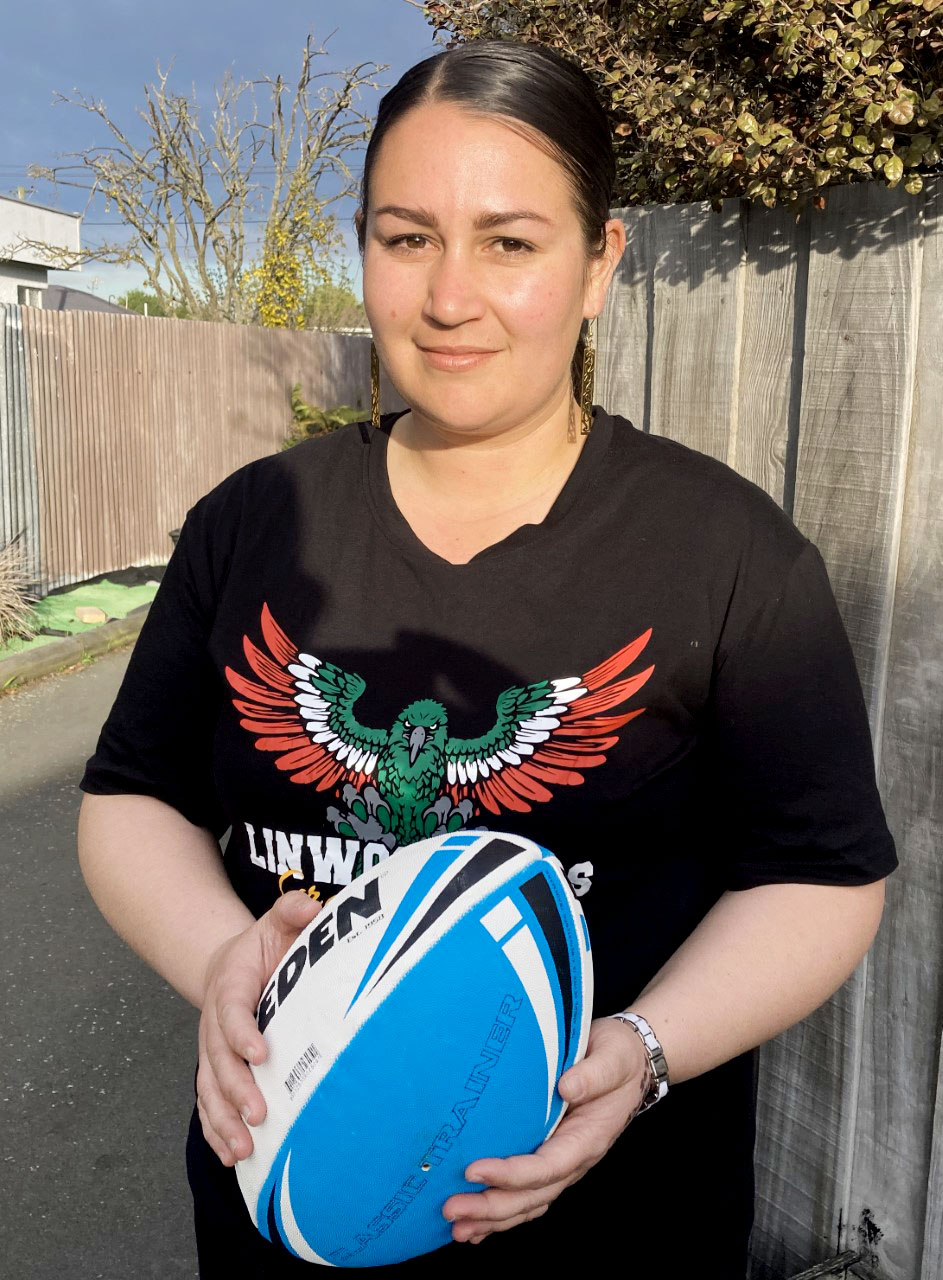 Hana Kakoi found it difficult to keep adults in line during the rugby league season. Photo: Chris...