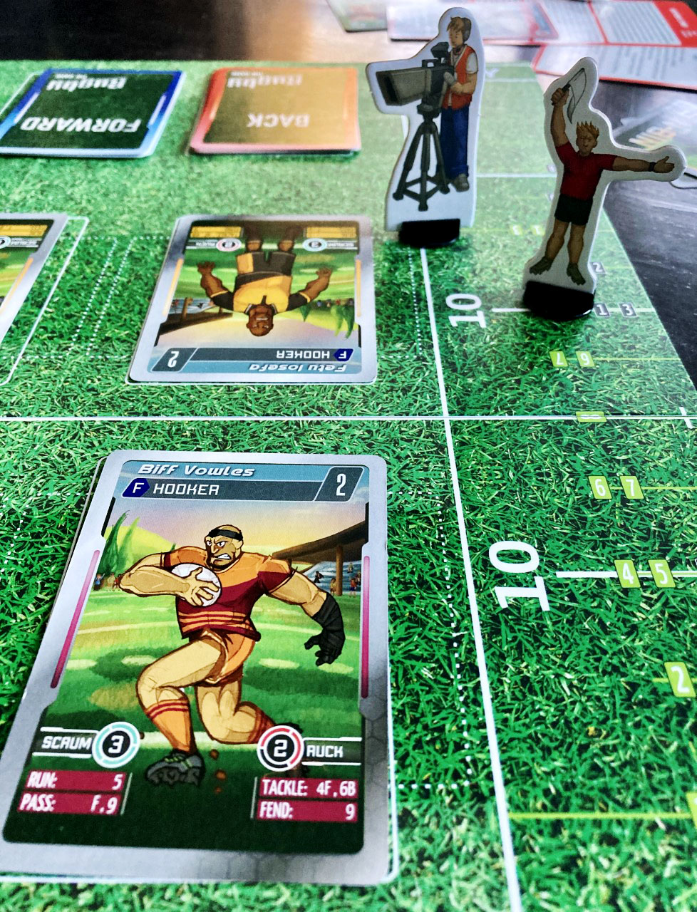 The new table top rugby game created by Christchurch rugby fan Zane Thompson. Photo: Chris Barclay