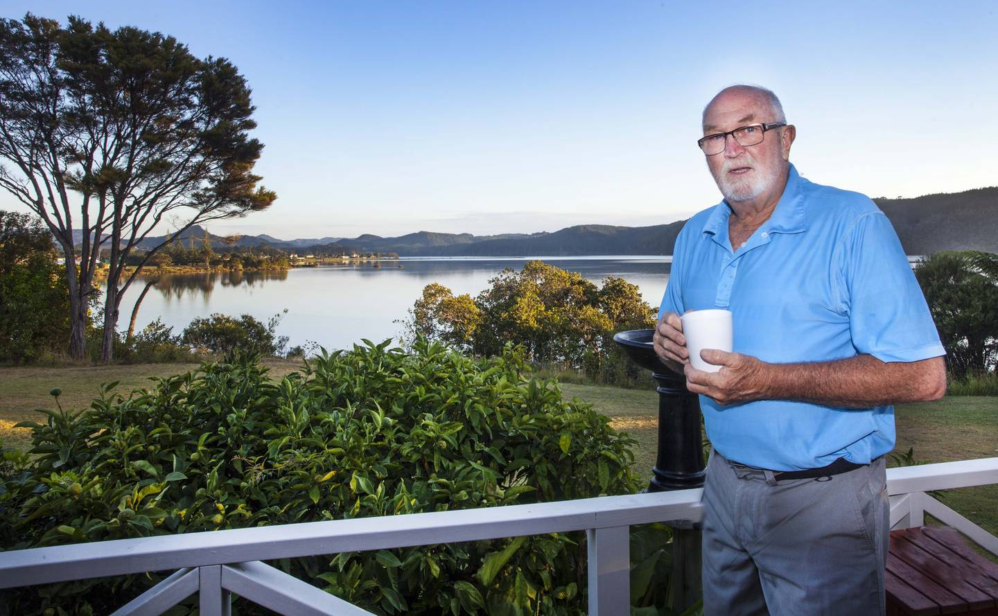 John McCombe relaxes at home in Whangamata in 2015. McCombe left Christchurch after the 2011...
