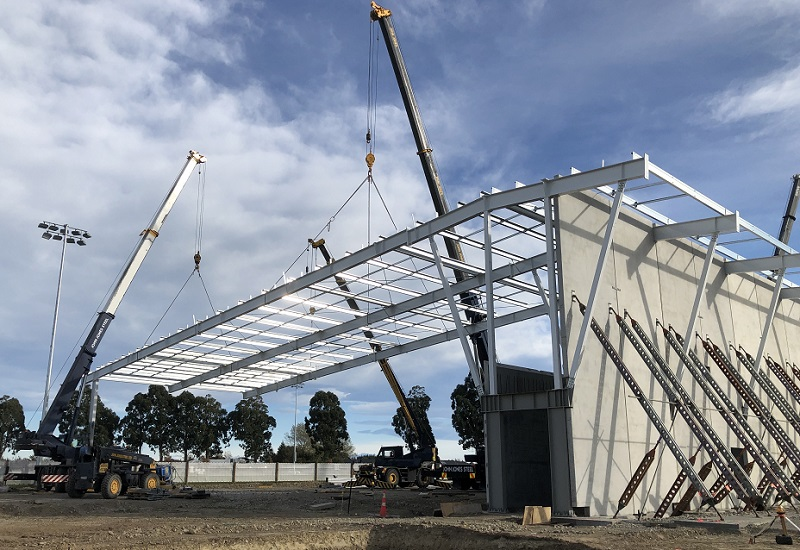 The framework for the roof was put up in may. Photo: Selwyn District Council
