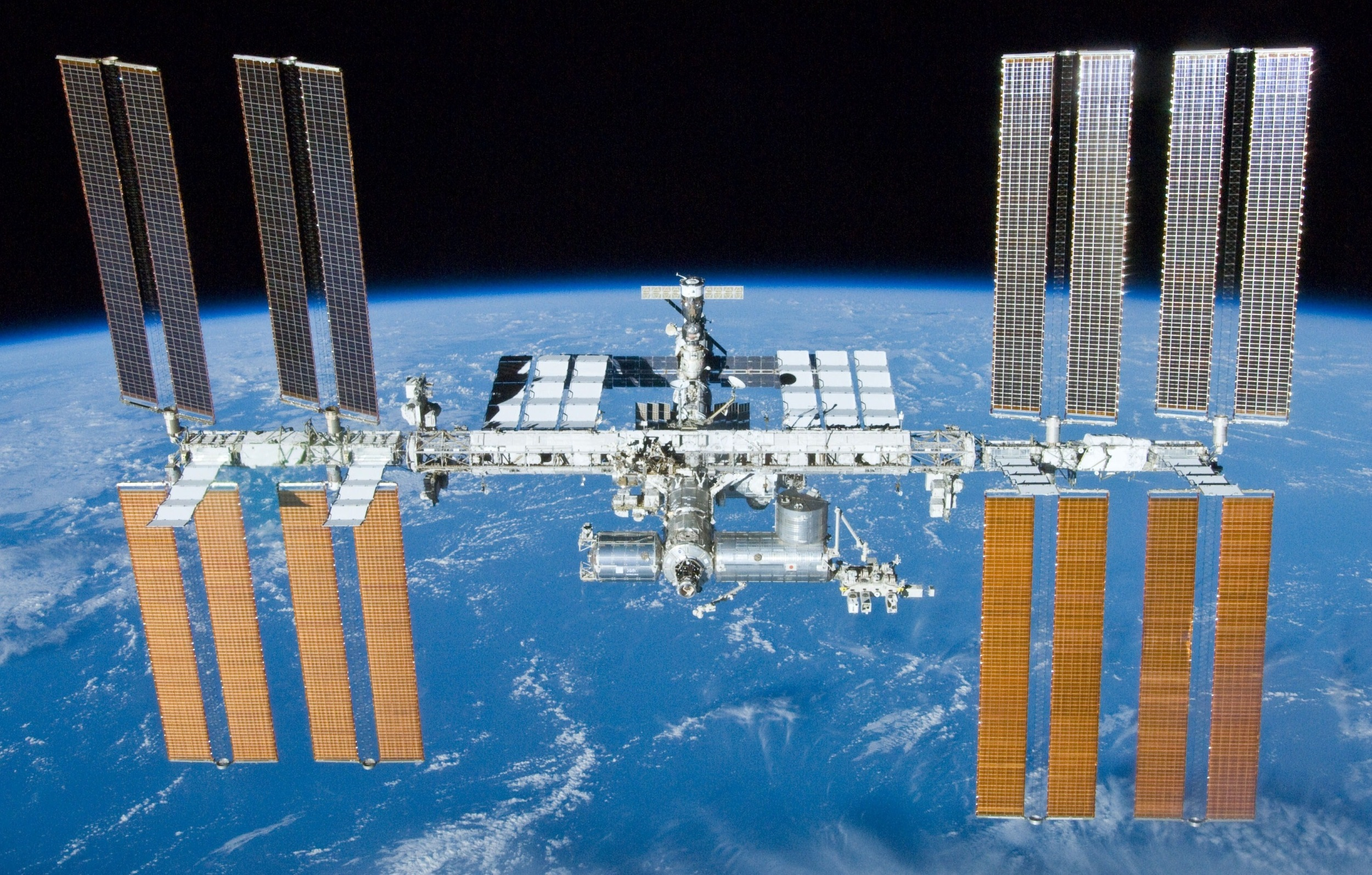 The International Space Station floating above Earth. Photo: Wikipedia