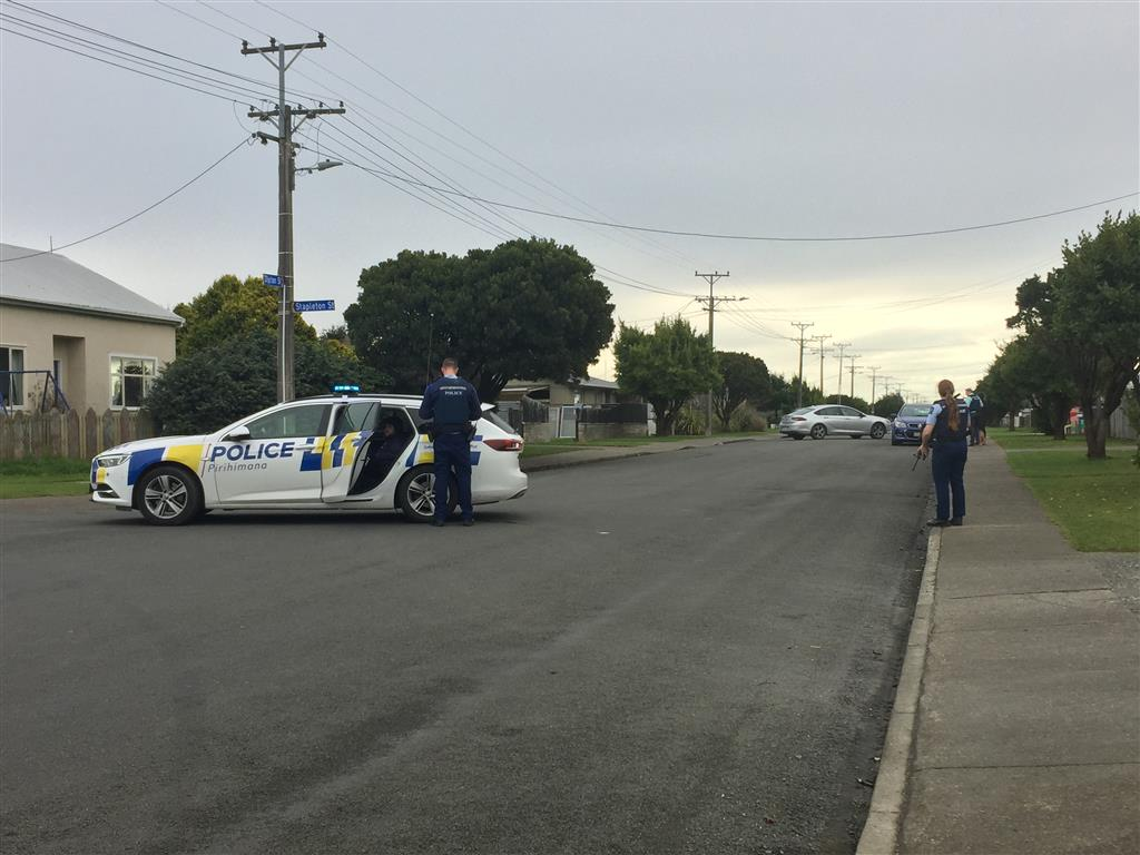 Armed police at the scene this afternoon. Photo: ODT