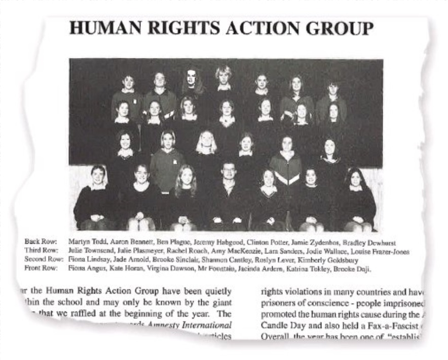 Jacinda Ardern was a founding member of the Morrinsville College human rights action group. In...