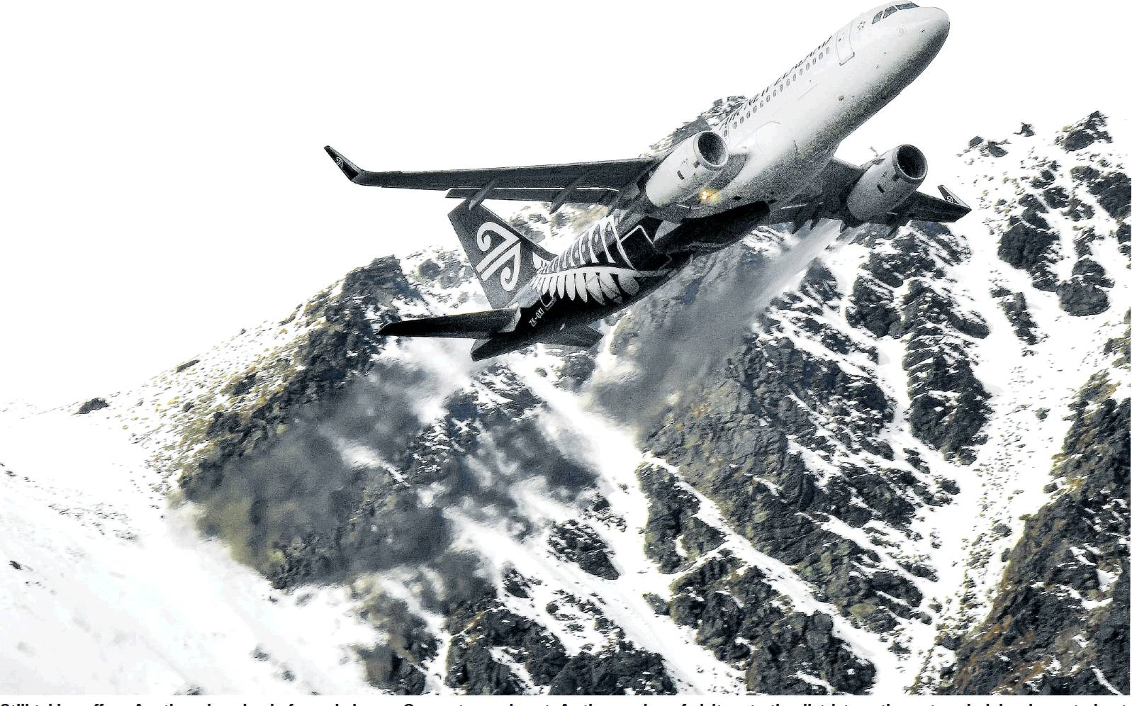 Another plane-load ofpeople leaves Queenstown airport. As the number of visitors to the district...