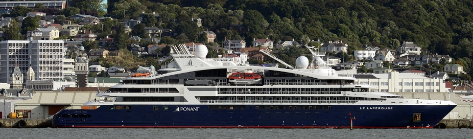 The visit by Le Laperouse to Dunedin yesterday marked the first time 100 cruise ships had visited...