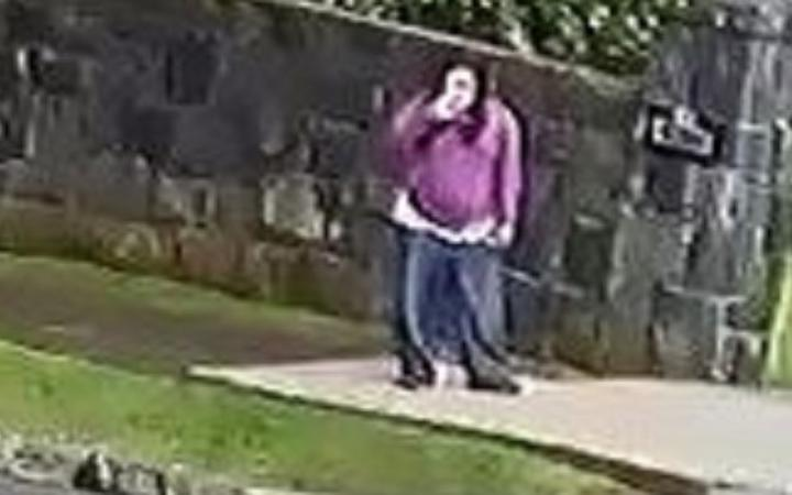 Lena Zhang Harrap was spotted on CCTV footage out walking yesterday. Photo: supplied/NZ Police