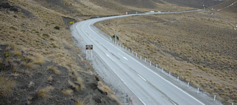 An icy Lindis Pass on Tuesday afternoon. Photo: NZTA
