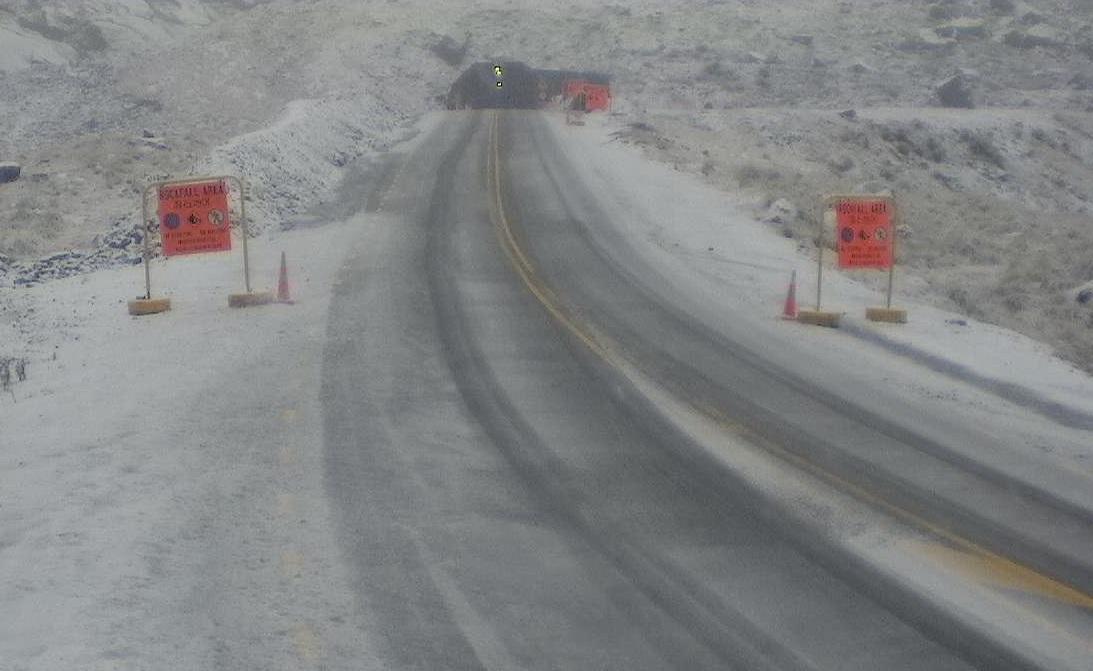 Milford Road (SH94) closed at 4.30pm on Monday. Photo: NZTA Milford Road