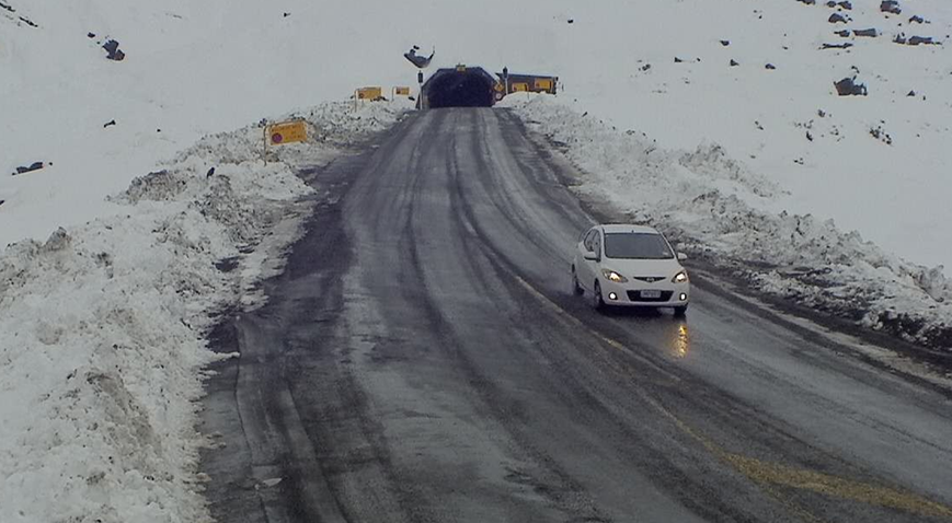 Milford Road at the Homer Tunnel. SH94 has been gritted due to ice and motorists should drive to...