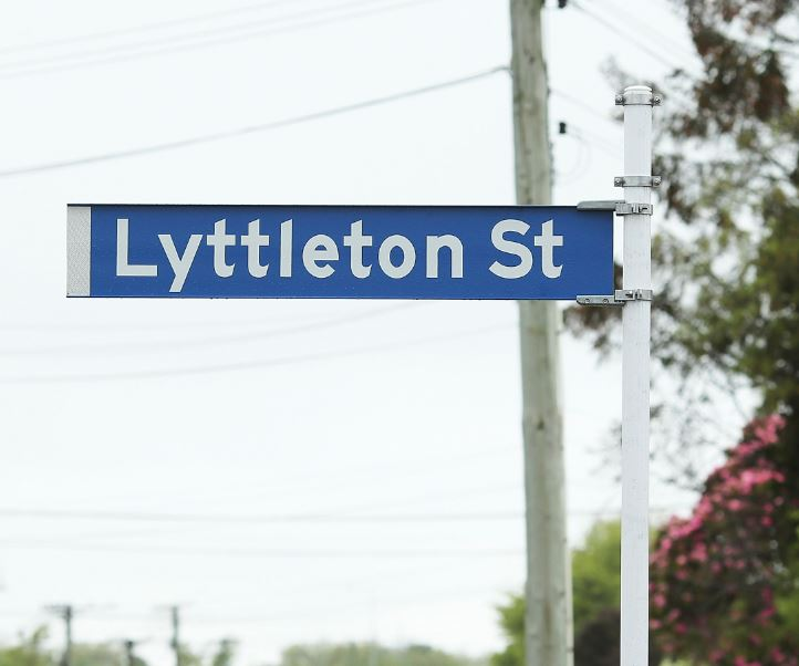 In 2018, a sign on Lyttelton St also failed to display the port town's name correctly. Photo:...