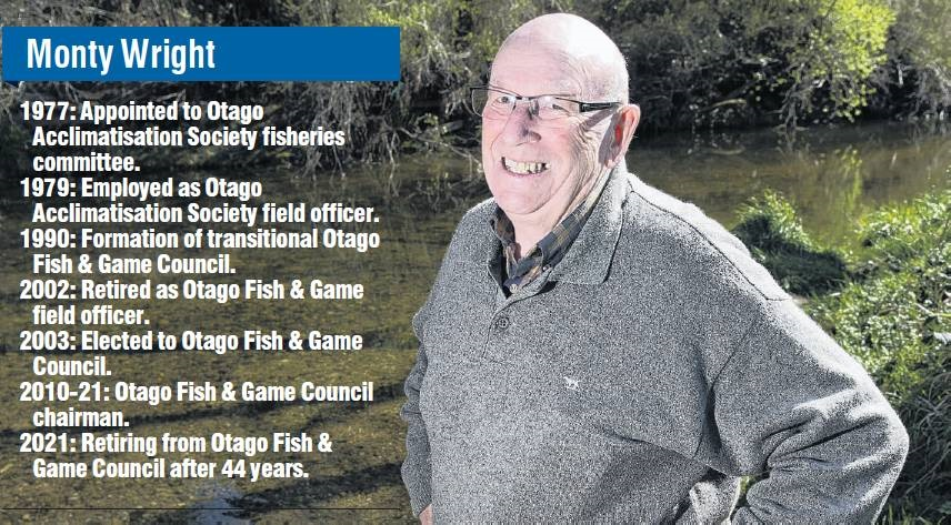 Fish & Game Council chairman Monty Wright is looking forward to doing some more fishing,...