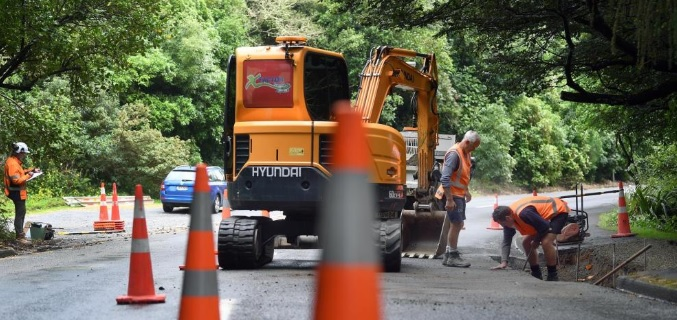 Roadworks are under way to improve the safety of Maori Rd. Photo: Stephen Jaquiery