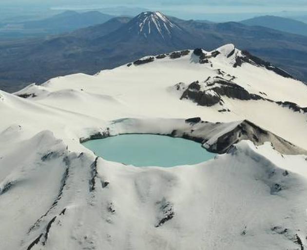The crater lake at Mt Ruapehu. Photo: NZ Herald