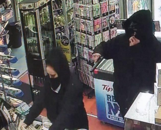 The Musselburgh Dairy robbery was caught on camera.