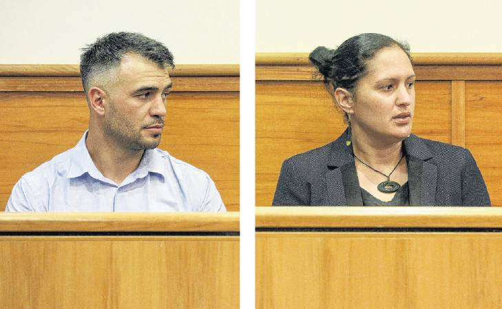 Tyson Sykes and Melissa-Mae Ruru appear for sentencing in the Rotorua District Court yesterday....