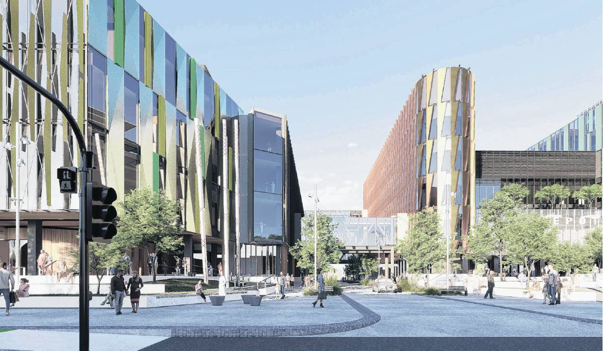 The latest concept design image for the new Dunedin Hospital buildings, supplied by the...