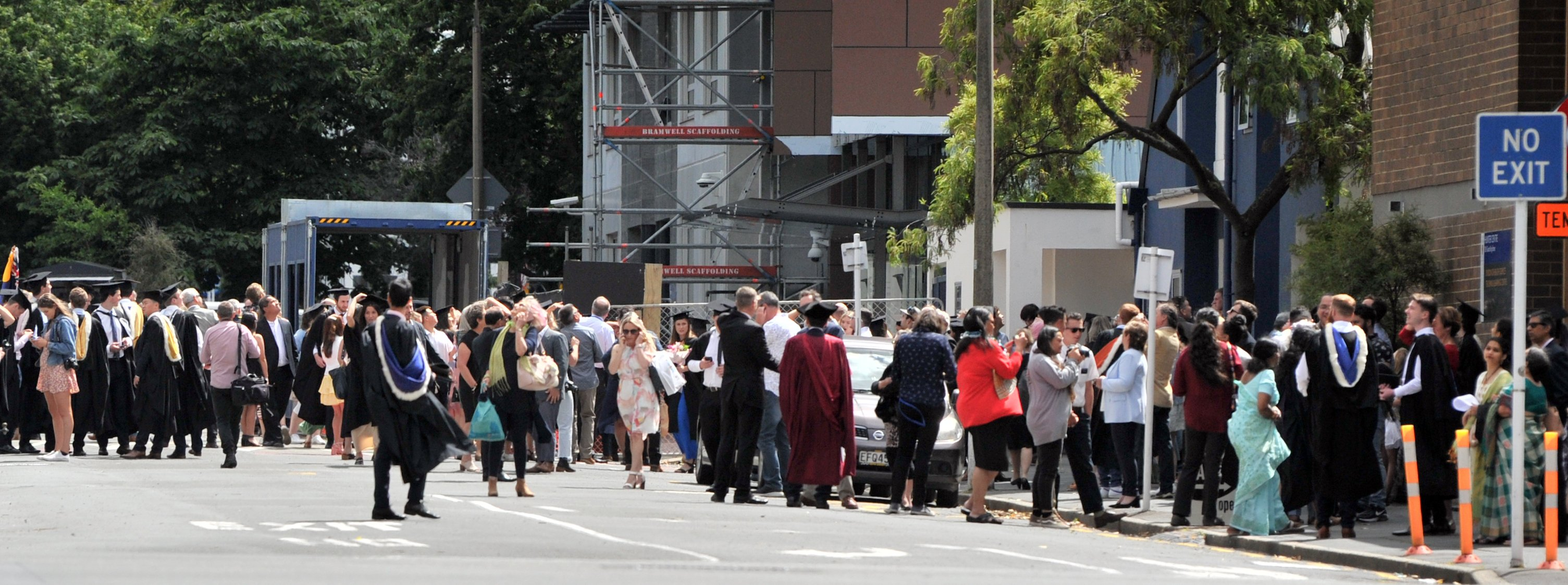 Graduands were told this morning the ceremonies would be postponed despite Otago University...