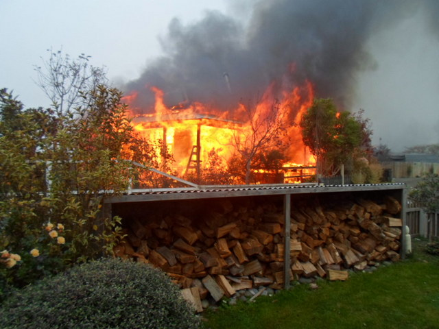 The Riverside Village home was destroyed by the deliberately lit blaze. PHOTO: SUPPLIED