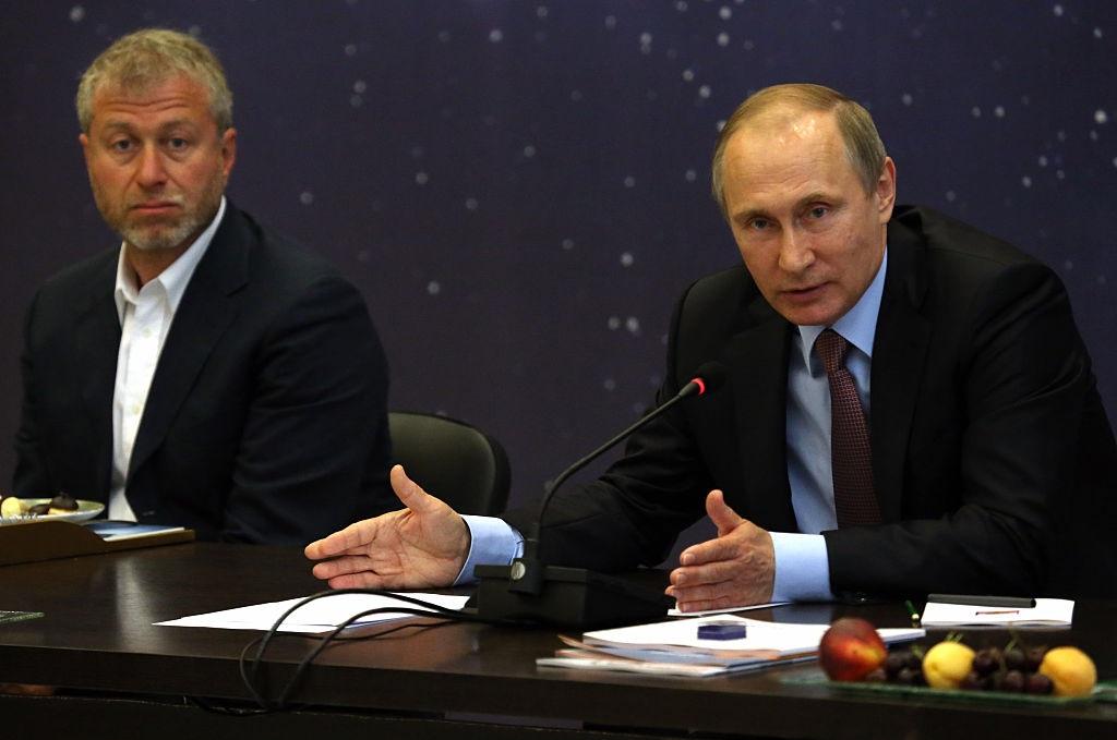 Billionaire and businessman Roman Abramovich (left) with President Vladimir Putin. Photo: Getty...