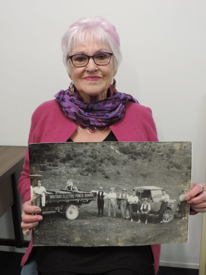 Lyn Warrington shows the photo of the father-in-law she never knew. PHOTO: SALLY BROOKER