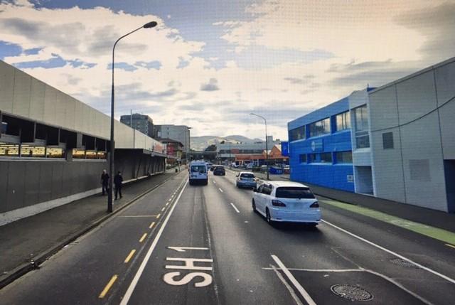 Cumberland Street looking north toward Dunedin Hospital. Image: Google Maps