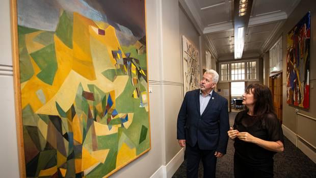 Mt Albert Grammar School board chairman Greg Moyle and Auckland Art Gallery secondary schools...