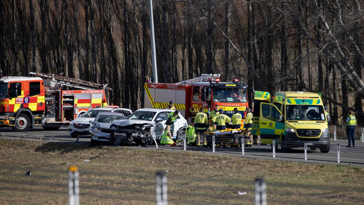 One person has died after a crash involving at least three vehicles on the Northern Motorway this...