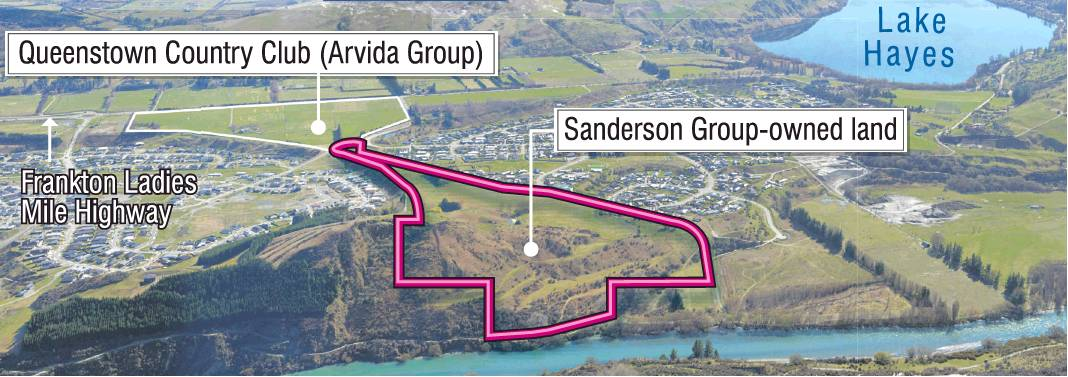 Queenstown Country Club developer Sanderson Group has retained the southern portion of...