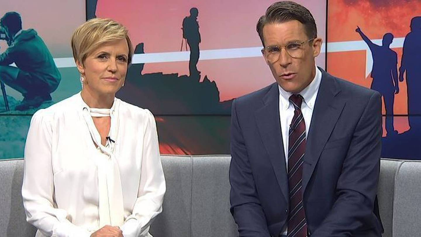Hilary Barry and co-host Jeremy Wells on Seven Sharp last night. Photo: NZH