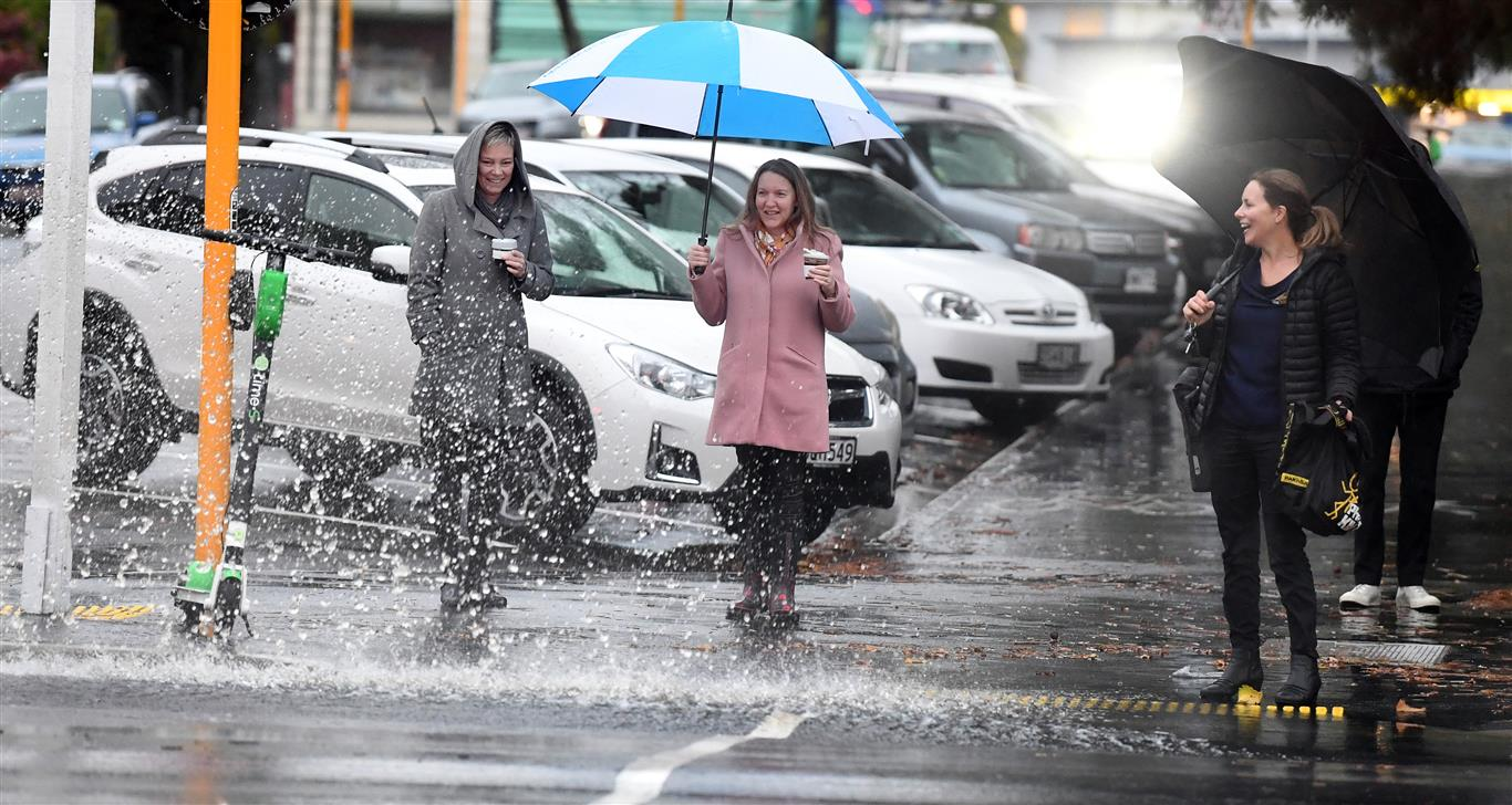 More rain was expected in Dunedin on Thursday morning. Photo: Stephen Jaquiery