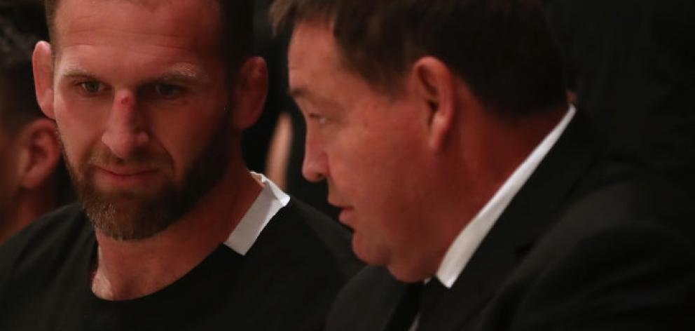 Kieran Read (left) and Steve Hansen. Photo: Getty Images