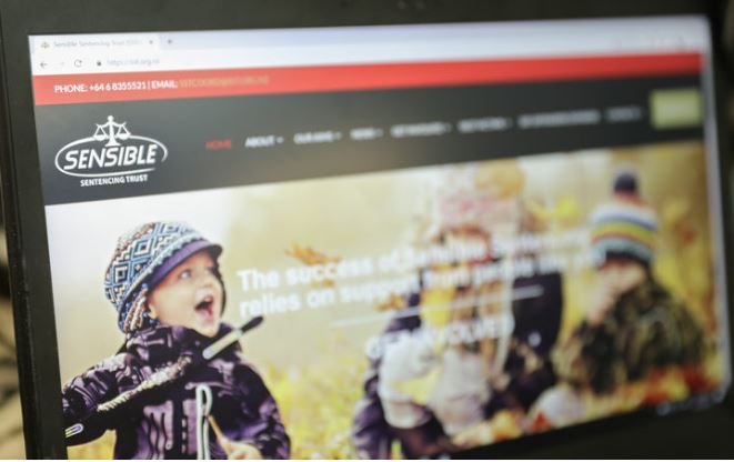 The Sensible Sentencing Trust website. Photo: RNZ