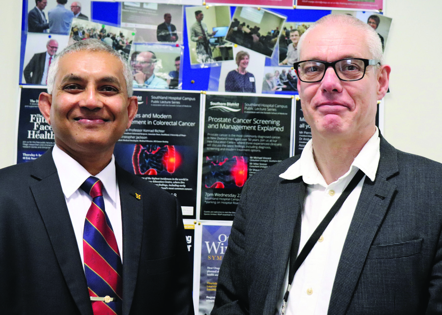 From left: Dean of Otago Medical School Professor Rathan Subramaniam with Associate Professor...